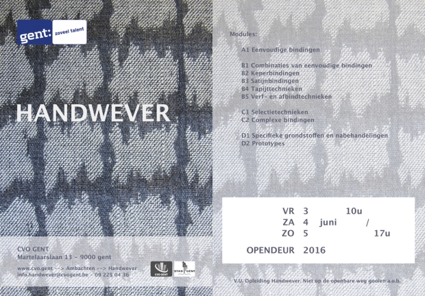 OPENDEUR Handwever - 3 t_m 5 jun '16